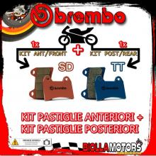 BRPADS-6554 KIT PASTIGLIE FRENO BREMBO HM CRE SIX COMPETITION 2009- 50CC [SD+TT] ANT + POST