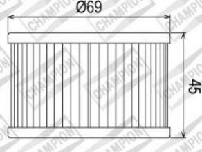 100609325 COF011 FILTRO OLIO HONDA TRX680 FA-6, 7,8,9, A, B, C, D Fourtrax Rincon 06-13 (X304)