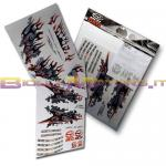 KITDECO00100 KIT 3 SCHEDE ADESIVI BCD DESIGN DECO RACING PER MBK BOOSTER 2004