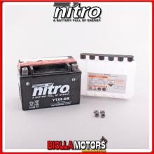 YTX9-BS-N BATTERIA NITRO YTX9-BS SIGILLATA CON ACIDO YTX9BS MOTO SCOOTER QUAD CROSS