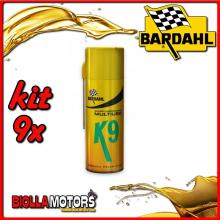 KIT 9X 400 ML BARDAHL K9 SVITOL SPRAY LUBRIFICANTE AD ELEVATE PRESTAZIONI 400ML - 9x 602029