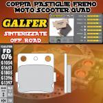 FD076G1396 PASTIGLIE FRENO GALFER SINTERIZZATE ANTERIORI HM CRF 150 R / R2 08-