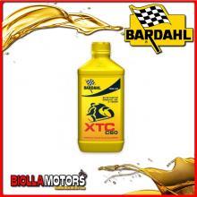 334141 1 LITRO OLIO BARDAHL XTC C60 5W40 LUBRIFICANTE PER MOTO 4T 1LT