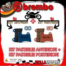 BRPADS-18931 KIT PASTIGLIE FRENO BREMBO POLARIS XPEDITION 2000-2001 325CC [CC+SD] ANT + POST