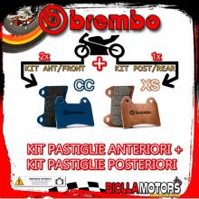 BRPADS-23 KIT PASTIGLIE FRENO BREMBO PIAGGIO MP3 LT iE ABS 2014- 300CC [CC+XS] ANT + POST