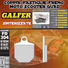 FD304G1375 PASTIGLIE FRENO GALFER SINTERIZZATE ANTERIORI HM DERAPAGE 2T COMPETICION 11-