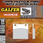 FD111G1054 PASTIGLIE FRENO GALFER ORGANICHE POSTERIORI KAWASAKI ZXR 750 STINGER 89-90