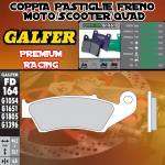 FD164G1651 PASTIGLIE FRENO GALFER PREMIUM ANTERIORI HONDA XL 600 V TRANSALP IZQ. 97-99