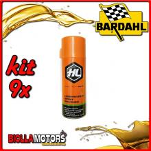KIT 9X 400ML SBLOCCANTE HL SPRAY BARDAHL MULTIUSO 400ML - 9x 604029