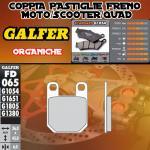 FD065G1054 PASTIGLIE FRENO GALFER ORGANICHE POSTERIORI ROXON DUEL SM 06-