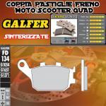 FD134G1371 PASTIGLIE FRENO GALFER SINTERIZZATE POSTERIORI PEUGEOT SV 250 03-