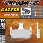 FD166G1054 PASTIGLIE FRENO GALFER ORGANICHE POSTERIORI SYM JET SPORT X 06-