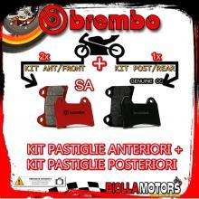 BRPADS-55894 KIT PASTIGLIE FRENO BREMBO BIMOTA TESI 3D 2007- 1100CC [SA+GENUINE] ANT + POST