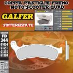 .FD344G1375 PASTIGLIE FRENO GALFER SINTERIZZATE ANTERIORI HONDA XL 700 V TRANSALP IZQ. ABS 08-