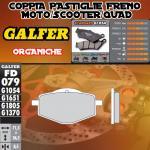 FD079G1054 PASTIGLIE FRENO GALFER ORGANICHE POSTERIORI GILERA 125 RC TOP RALLY 89-89