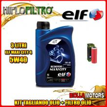 KIT TAGLIANDO 3LT OLIO ELF MAXI CITY 5W40 BMW R100 CS,S (Without Oil Cooler) 1000CC 1973-1990 + FILTRO OLIO HF161