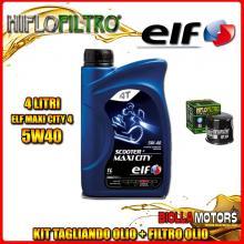 KIT TAGLIANDO 4LT OLIO ELF MAXI CITY 5W40 HONDA 750 Integra 750CC 2014-2016 + FILTRO OLIO HF204