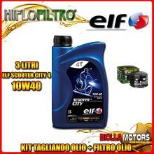 KIT TAGLIANDO 3LT OLIO ELF CITY 10W40 GILERA 800 GP / GP Centenario 800CC 2008-2014 + FILTRO OLIO HF565