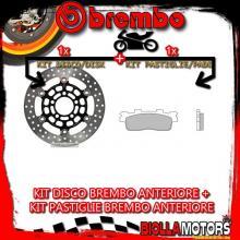 KIT-W2J9 DISCO E PASTIGLIE BREMBO ANTERIORE KYMCO SUPER DINK 125CC 2010- [XS+FLOTTANTE] 78B40819+07085XS