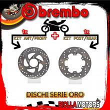 BRDISC-690 KIT DISCHI FRENO BREMBO GILERA RUNNER VXR 2001-2004 200CC [ANTERIORE+POSTERIORE] [FISSO/FISSO]