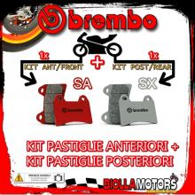 BRPADS-13327 KIT PASTIGLIE FRENO BREMBO BENELLI BX SUPERMOTARD 2008- 449CC [SA+SX] ANT + POST