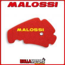 1414496 SPUGNA FILTRO ARIA MALOSSI DERBI RAMBLA 125 4T LC EURO 3 (PIAGGIO M287M) DOPPIO STRATO DOUBLE RED SPONGE PER FILTRO ORIG
