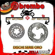 BRDISC-5 KIT DISCHI FRENO BREMBO APRILIA SCARABEO 1998-2005 50CC [ANTERIORE+POSTERIORE] [FISSO/FISSO]
