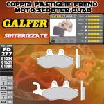 FD277G1380 PASTIGLIE FRENO GALFER SINTERIZZATE POSTERIORI PEUGEOT GEOPOLIS 250 PREMIUM 06-