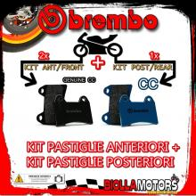 BRPADS-32955 KIT PASTIGLIE FRENO BREMBO NORTON COMMANDER 1990- 0CC [GENUINE+CC] ANT + POST