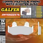 FD284G1380 PASTIGLIE FRENO GALFER SINTERIZZATE ANTERIORI HONDA SH 125 i SCOOPY (TAMBOR TRAS) 09-12