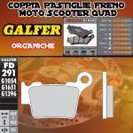FD291G1054 PASTIGLIE FRENO GALFER ORGANICHE POSTERIORI HUSQVARNA STR 650 CRC 07-