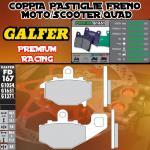 FD167G1651 PASTIGLIE FRENO GALFER PREMIUM POSTERIORI KAWASAKI ER-6 F / NINJA 650 R (USA) RIGHT / DER 05-