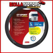 98009 LAMPA GT-SPORT, COPRIVOLANTE IN TPE - L - ? 46/48 CM - NERO/ARGENTO
