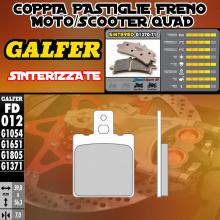 FD012G1371 PASTIGLIE FRENO GALFER SINTERIZZATE ANTERIORI MOTOTRANS 350 FORZA 75-