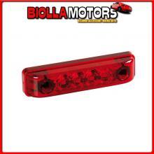 98383 LAMPA LUCE PERIMETRALE A 4 LED, 24V - ROSSO
