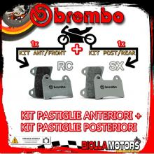 BRPADS-13077 KIT PASTIGLIE FRENO BREMBO HM CRM X SUPERMOTARD 2007- 125CC [RC+SX] ANT + POST