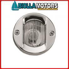 2111607 FANALE POPPA ROUND WHITE LED INOX< Fanale di Poppa Round (CE)