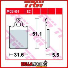 MCB651 PASTIGLIE FRENO ANTERIORE TRW LML-Vespa Star 125 Deluxe - [ORGANICA- ]