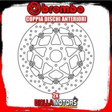 2-78B408B0 COPPIA DISCHI FRENO ANTERIORE BREMBO KTM DUKE 2014-2015 690CC FLOTTANTE