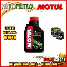 KIT TAGLIANDO 5LT OLIO MOTUL 5100 10W40 DUCATI 1200 Monster R 1200CC 2016- + FILTRO OLIO HF153