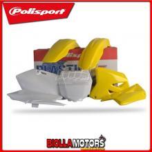 P90095 KIT PLASTICHE CARENE SUZUKI RM 250 2012- GIALLO/BIANCO POLISPORT