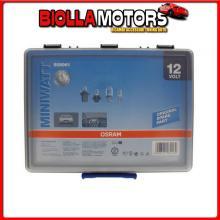 OA509961 OSRAM 12V MINIWATT, BOX ASSORTITO 180 PZ 509961 - 1 PZ - SCATOLA PLAST.