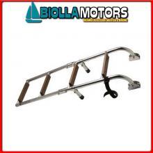 0503604 SCALETTA STD 4GR INOX/LEGNO Scalette Inox e Legno Standard