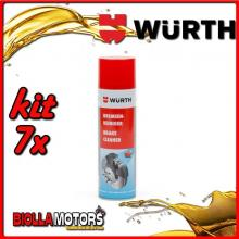 KIT 7x 500ML PULITORE PER FRENI SPRAY WURTH - 7x 0890117