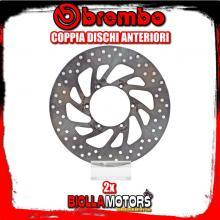2-68B407E5 COPPIA DISCHI FRENO ANTERIORE BREMBO MALAGUTI SPYDER MAX GT 2004- 500CC FISSO