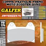 FD176G1375 PASTIGLIE FRENO GALFER SINTERIZZATE ANTERIORI NORTON COMMANDO 961 SPORT 10-