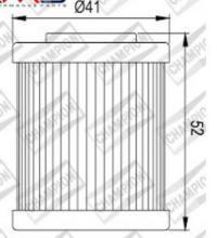 100609545 COF057 FILTRO OLIO KTM 525 SX / MXC / EXC / XC / XC-W (3 fori filtro dell'aria)2 ° Filtro 03-07 (X335)