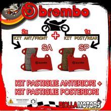 BRPADS-45444 KIT PASTIGLIE FRENO BREMBO MOTO MORINI GRANPASSO 2008- 1200CC [SA+SP] ANT + POST