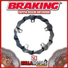 BY101L+BY101R COPPIA DISCHI FRENO ANTERIORE DX + SX BRAKING BMW R 1200 GS 1200cc 2008-2014 WAVE FLOTTANTE