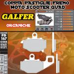 FD167G1054 PASTIGLIE FRENO GALFER ORGANICHE POSTERIORI KAWASAKI ER-6 F / NINJA 650 R (USA) RIGHT / DER 05-
